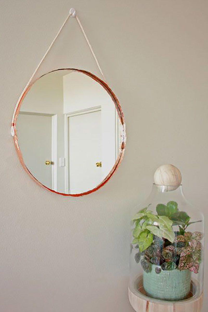 schöne wohnideen einrichtungstipps einrichtungsideen spiegel kupfer garten und wohnen