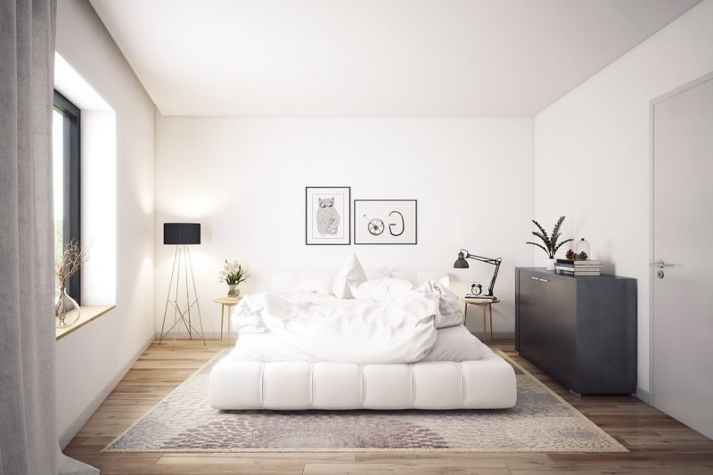 schlafzimmer design einrichtungsideen helle farben skandinavischer stil