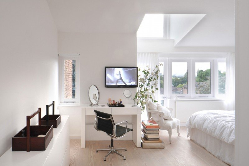 modernes schlafzimmer design einrichtungsideen weiß wandgestaltung helle farben