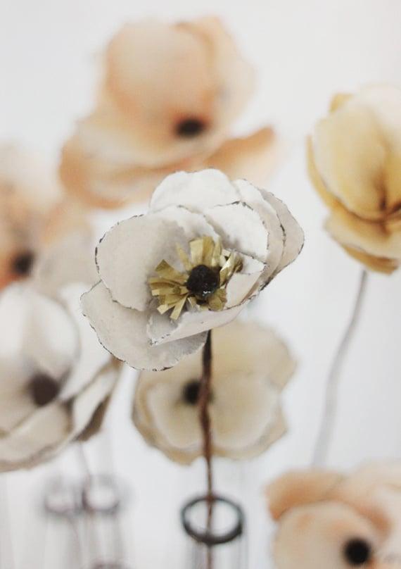 blumen basteln papierblumen basteln bastelideen anleitung blume batseln