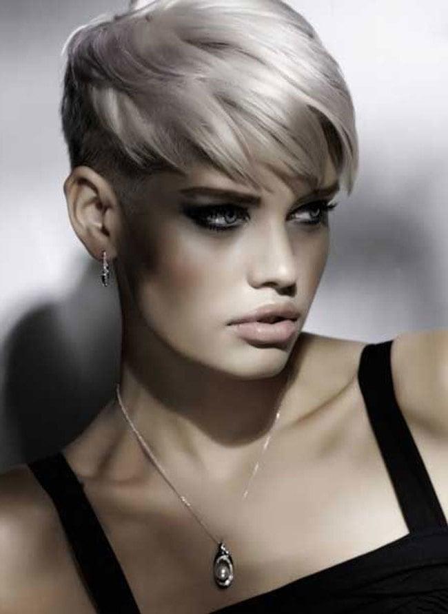kurzhaarfrisuren undercut frauen frisuren trendfrisuren undercut frau