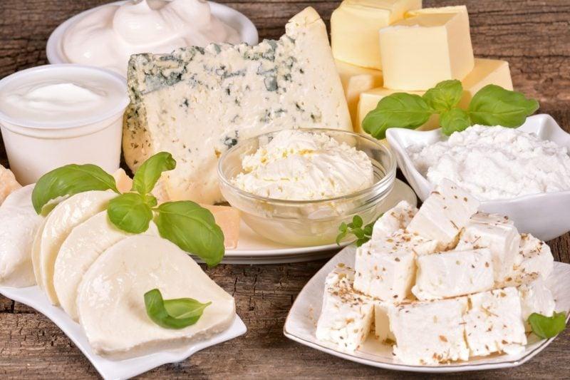 unterschiedliche Käsearten Quark Diät ohne Kohlenhydrate