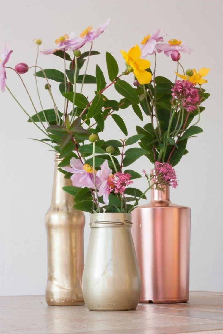 schöne wohnideen einrichtungstipps einrichtungsideen wohnaccessoires vasen wohnzimmer ideen kupfer garten und wohnen