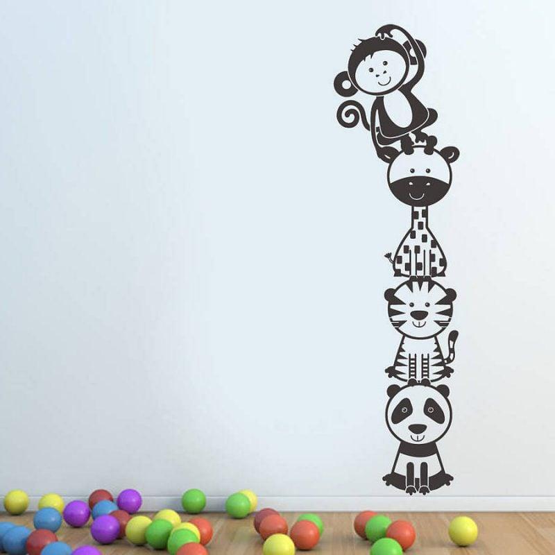 wandgestaltung kinderzimmer ideen wandtattoo