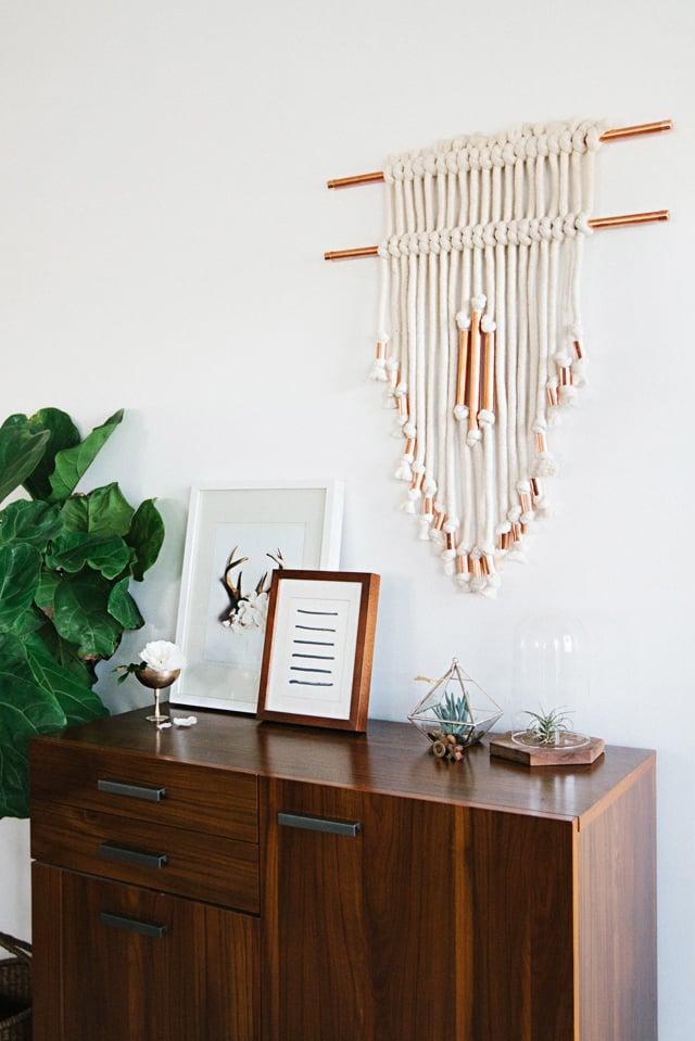 wandteppich wandgestaltung wohnzimmer ideen