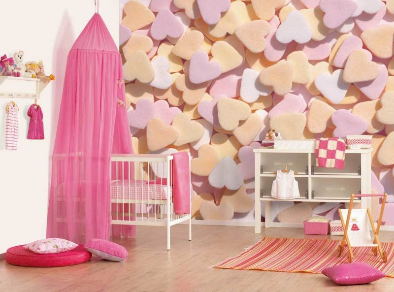 wandgestaltung kinderzimmer ideen farben