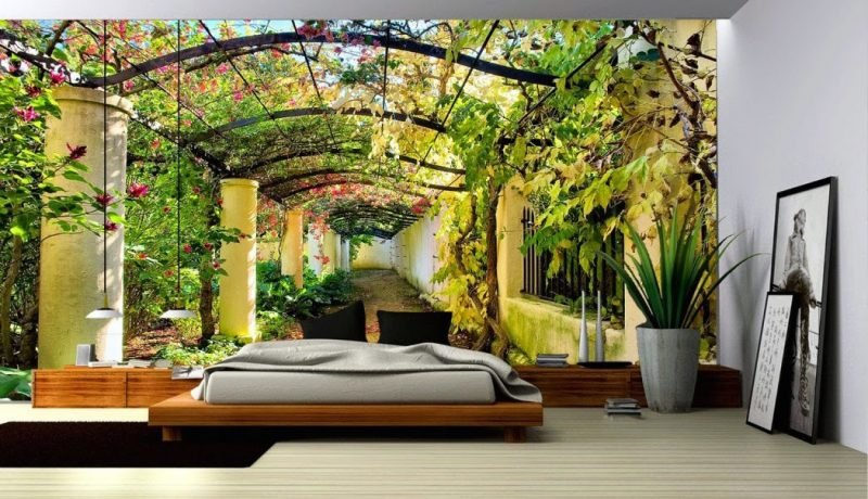wände gestalten ideen schlafzimmer wandtapete