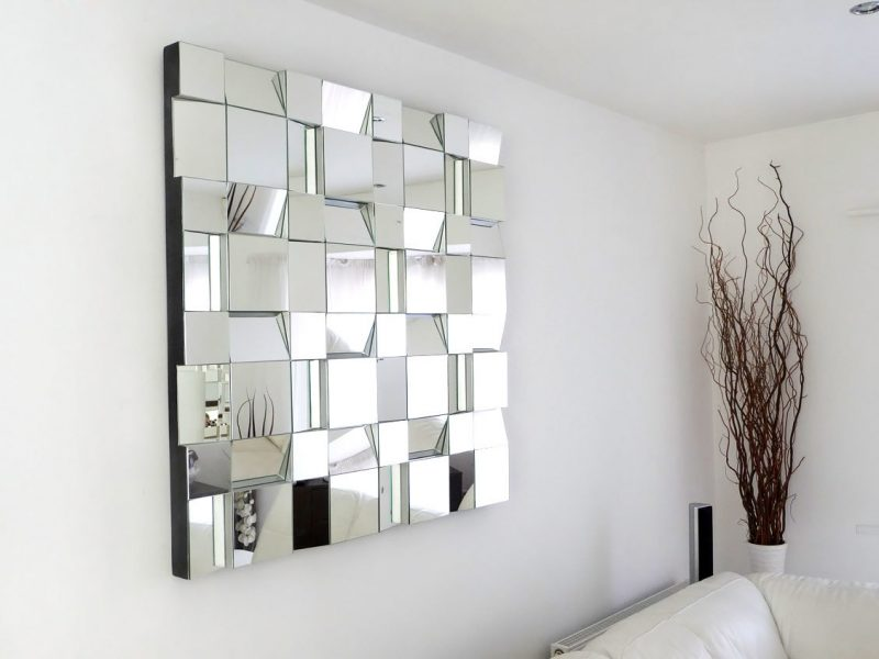 Wandgestaltung Wohnzimmer Ideen Spiegel