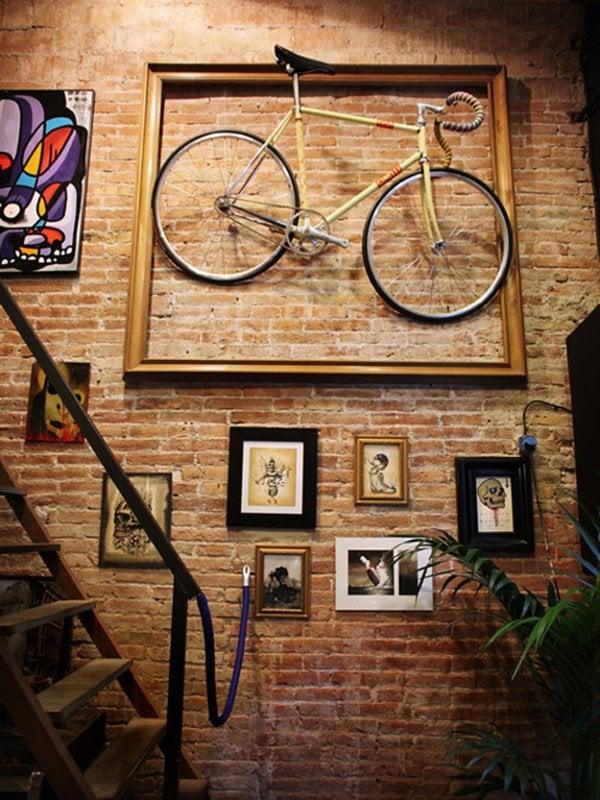 wandgestaltung fahrrad