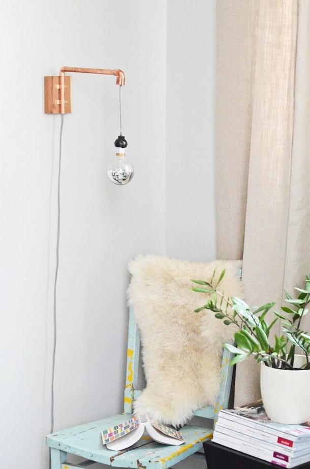 schöne wohnideen einrichtungstipps einrichtungsideen wandleuchte wohnzimmer ideen kupfer garten und wohnen