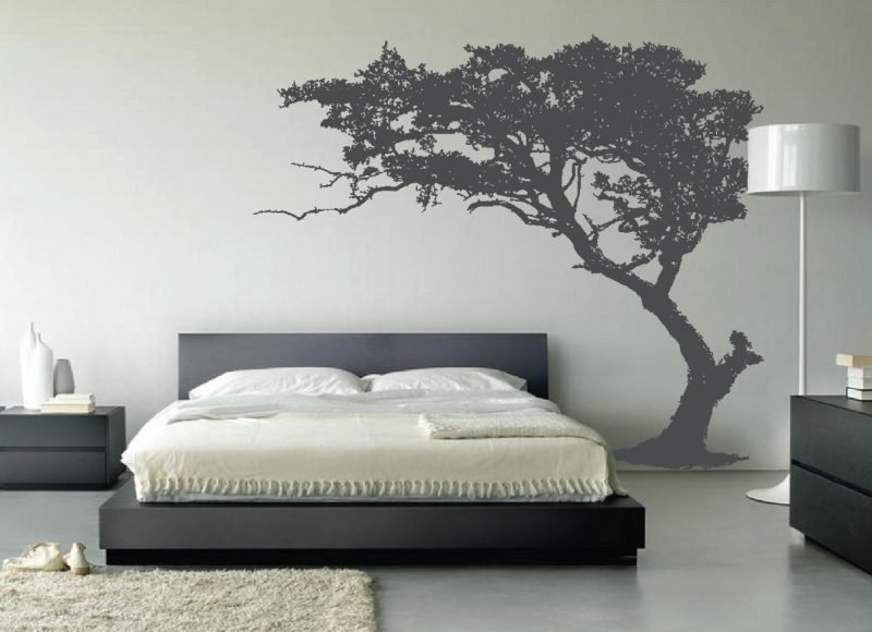 wandgestaltung schlafzimme rideen wandtapete