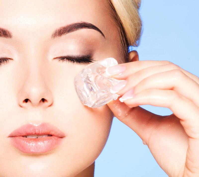 Was tun gegen Augenringe - Eis hilft