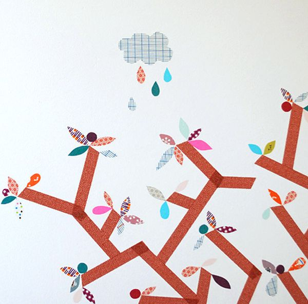 wände gestalten washi tape diy wandgestaltung selber machen kinderzimmer ideen