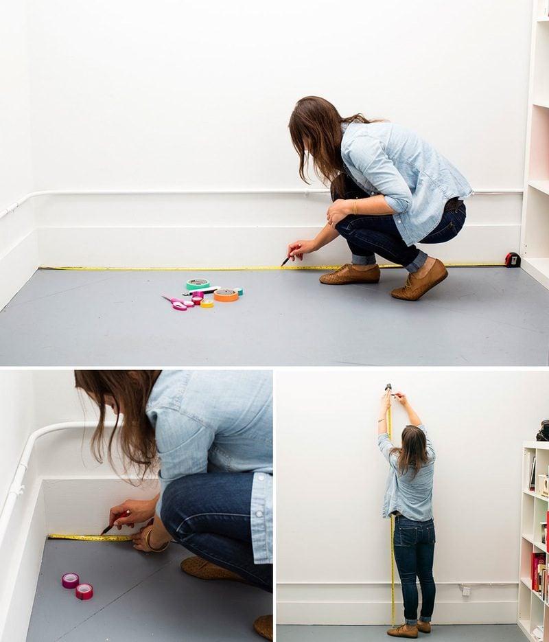 wände gestalten washi tape diy wandgestaltung selber machen anleitung materialien