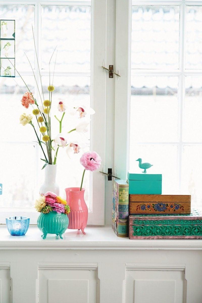 Wohnzimmer Frühlingsdeko Ideen - Schmucken Sie mit Blumen