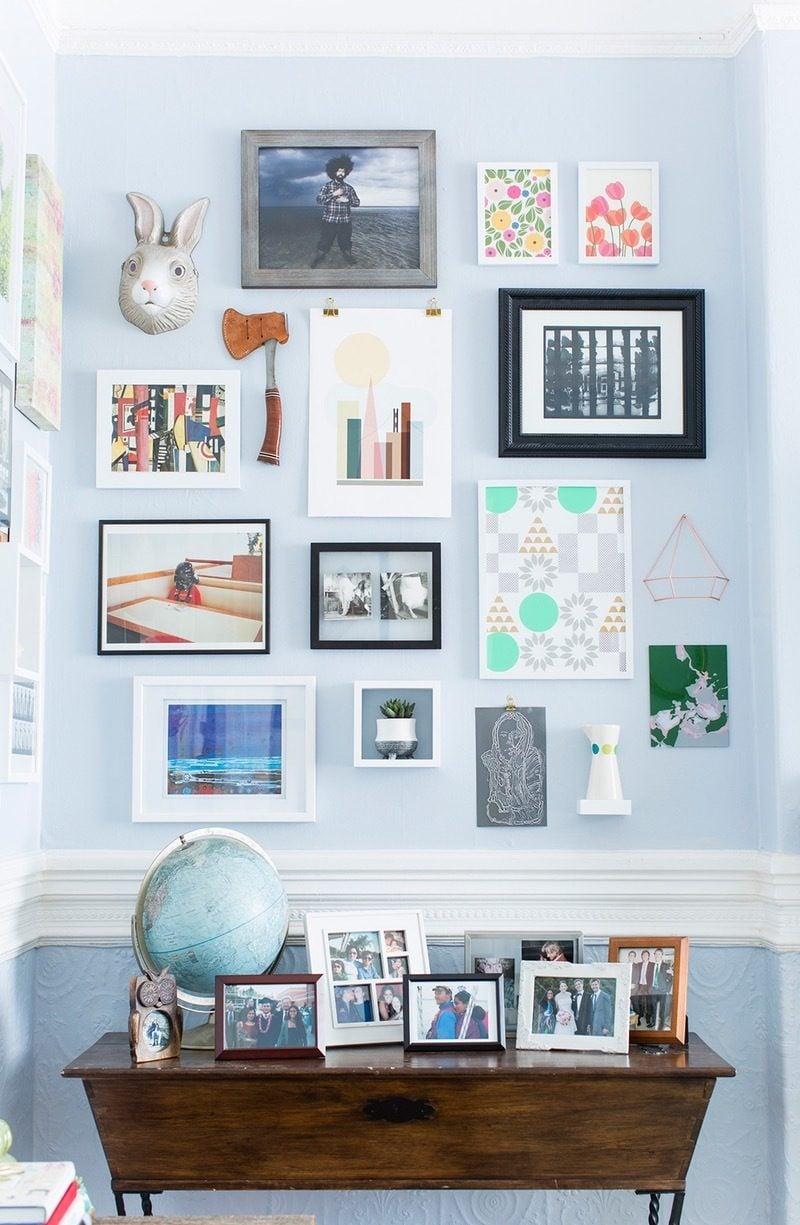 farbenfrohe Frühlingsdeko im Wohnzimmer : kreative Wandgestaltung