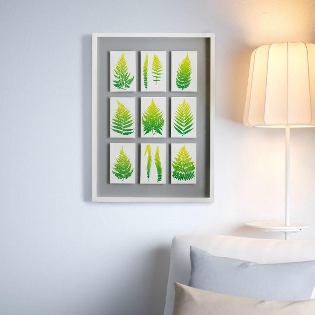 Ikea Hacks für Frühlingsdeko im Wohnzimmer : kreative Wandgestaltung