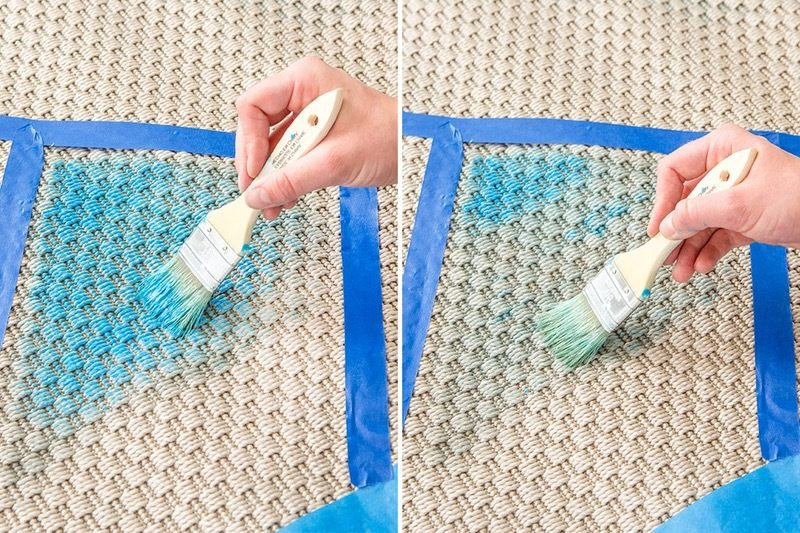 Ikea Hacks für Frühlingsdeko im Wohnzimmer: Teppich selber machen