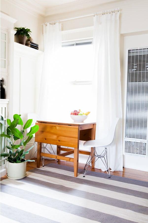 Wohnzimmer Projekt um Frühling in Wohnung zu bringen