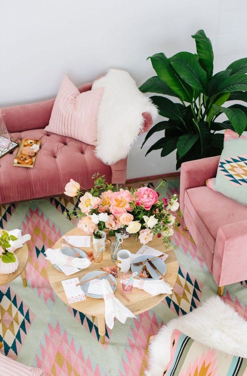 Wohnzimmer Refresh um Frühling in Wohnung zu bringen