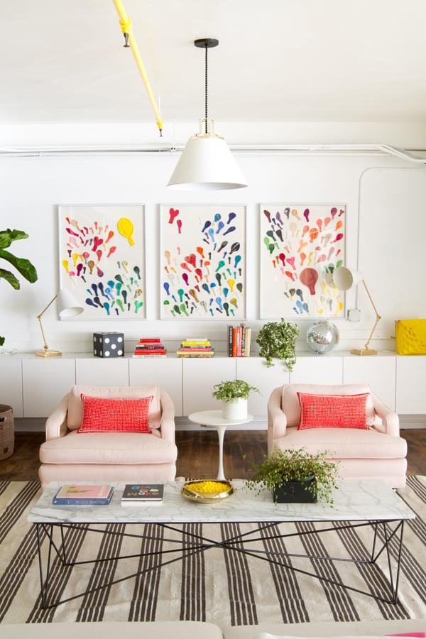 Wohnzimmer Frühlingsdeko