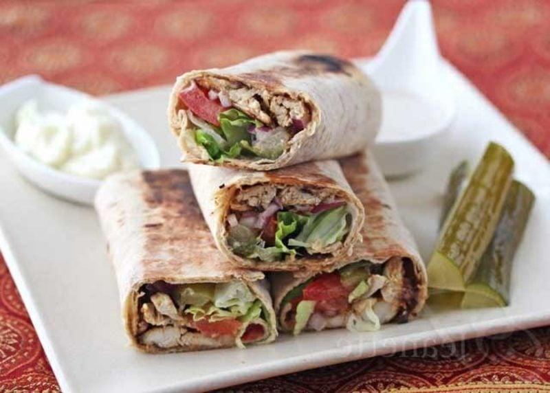Hühnchen Caesar Wraps tortillas selber machen rezept wraps tortilla