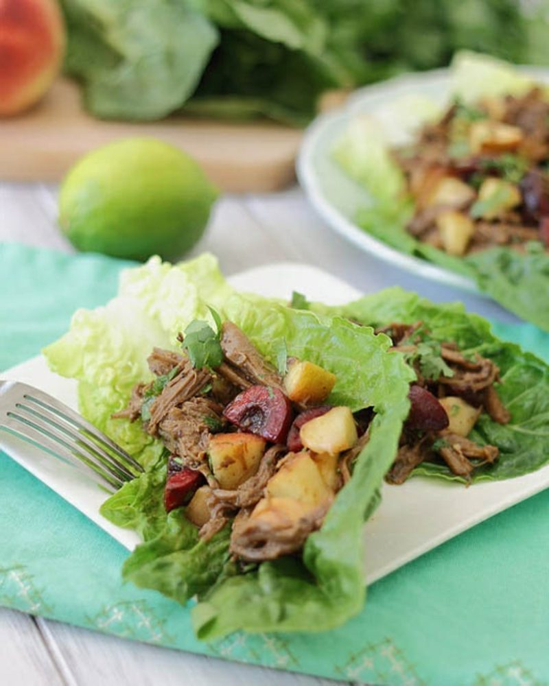 The Thai flavors in these lettuce wraps is a nice twist, and you'll love the sweet potatoes