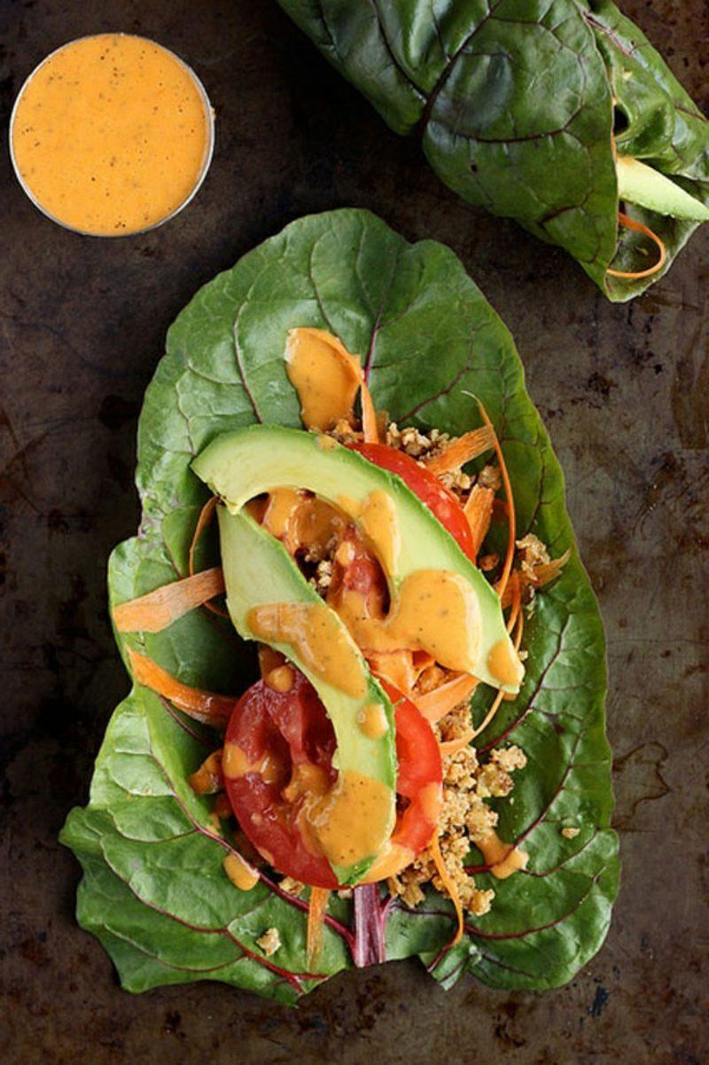 Thai Sweet Potato Lettuce Wraps Thai Süßkartoffel