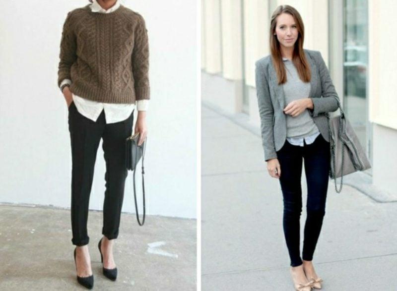 zwei Ideen für Business Casual Outfit Damenmode