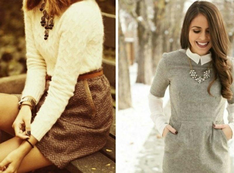 Damenmode Business Casual Outfit für den Winter