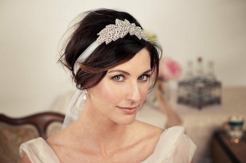 Frisuren mit Haarband kreative Ideen Hochzeit