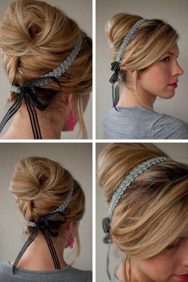 Frisuren mit Haarband zum Selbermachen