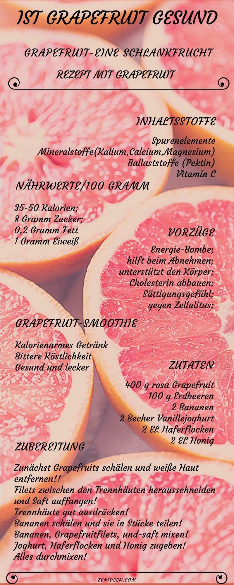 grapefruit gesund rezepte mit grapefruit