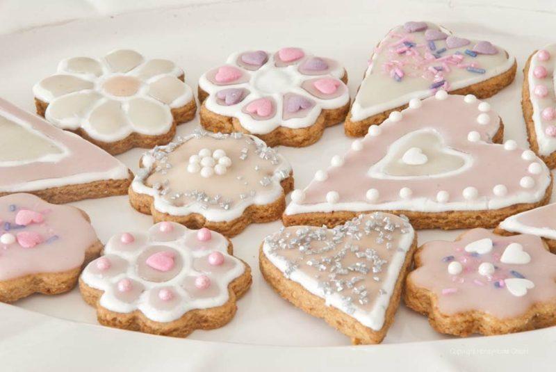 Backen zum Muttertag herrliche Kekse mir Kuvertür