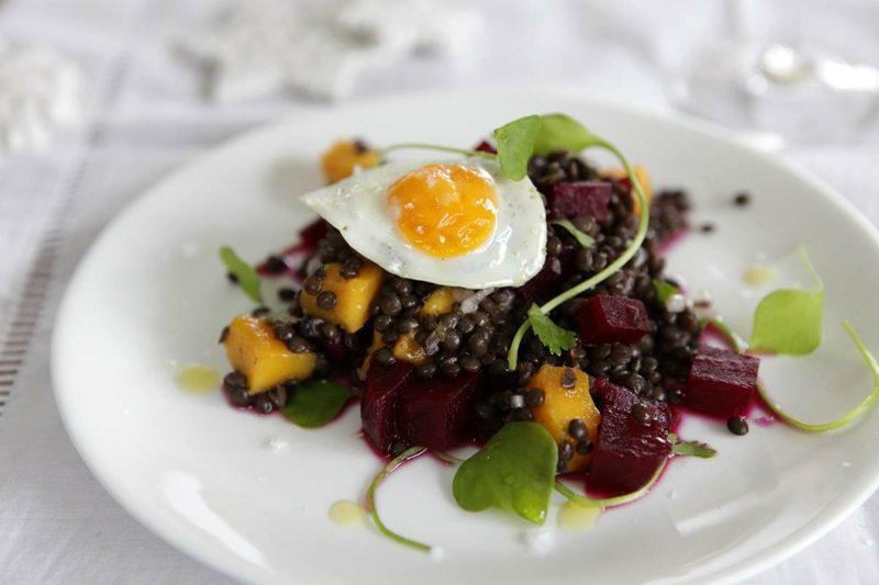 Wachteleier kochen Linsensalat Rezepte