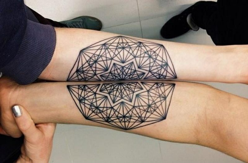 Partner Tattoos Mandala Tattoo am Unterarm