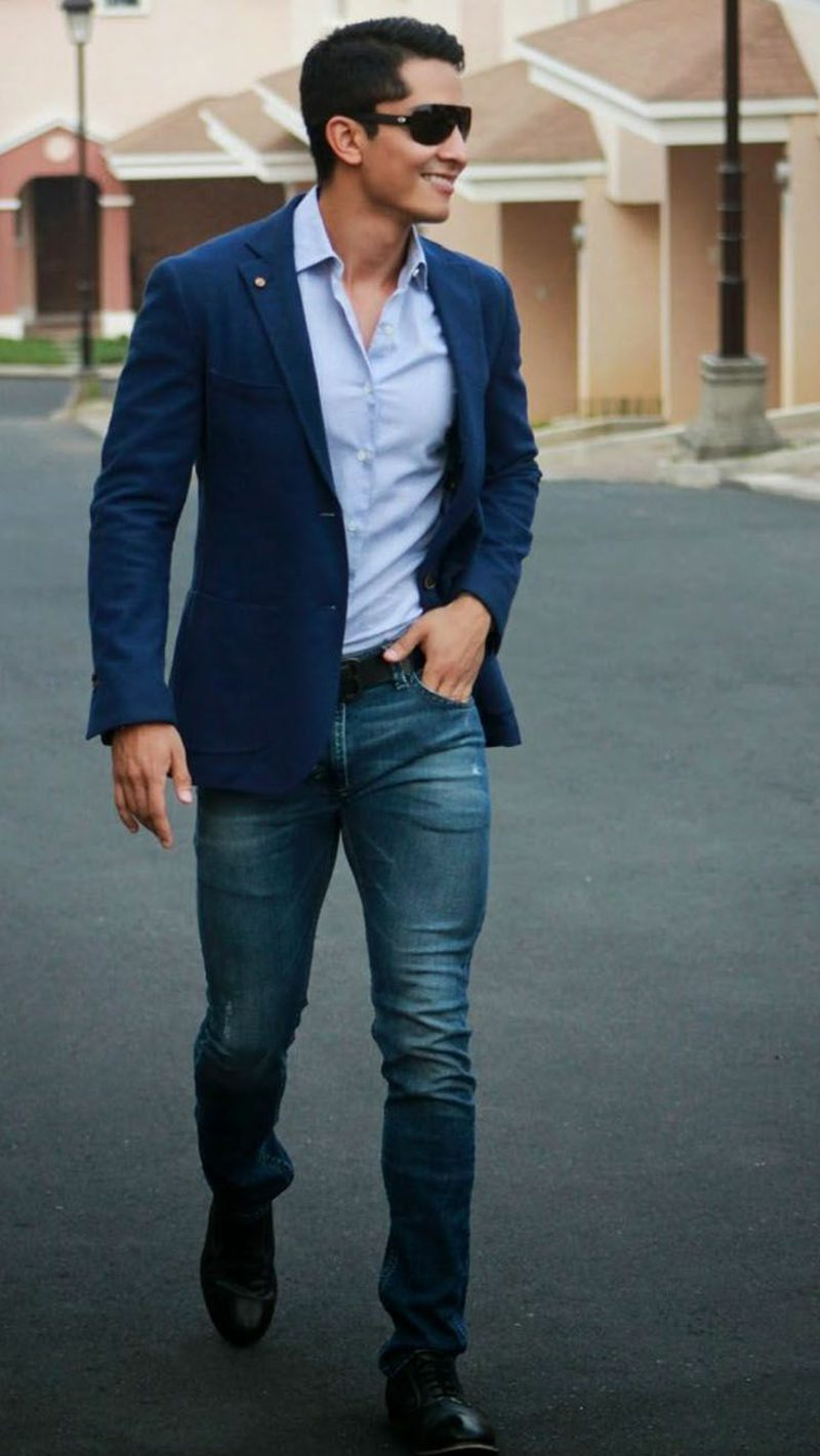 Dresscode Business Casual Mann Jeans keine Krawatte