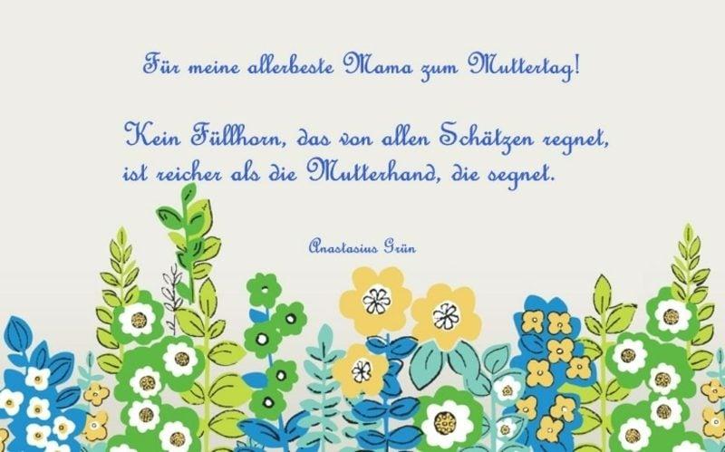 Muttertagsgedichte kurz interessante Grusskarte