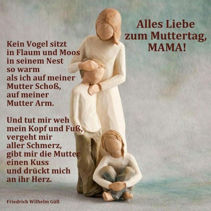 alles Liebe zum Muttertag Ideen für Gedichte