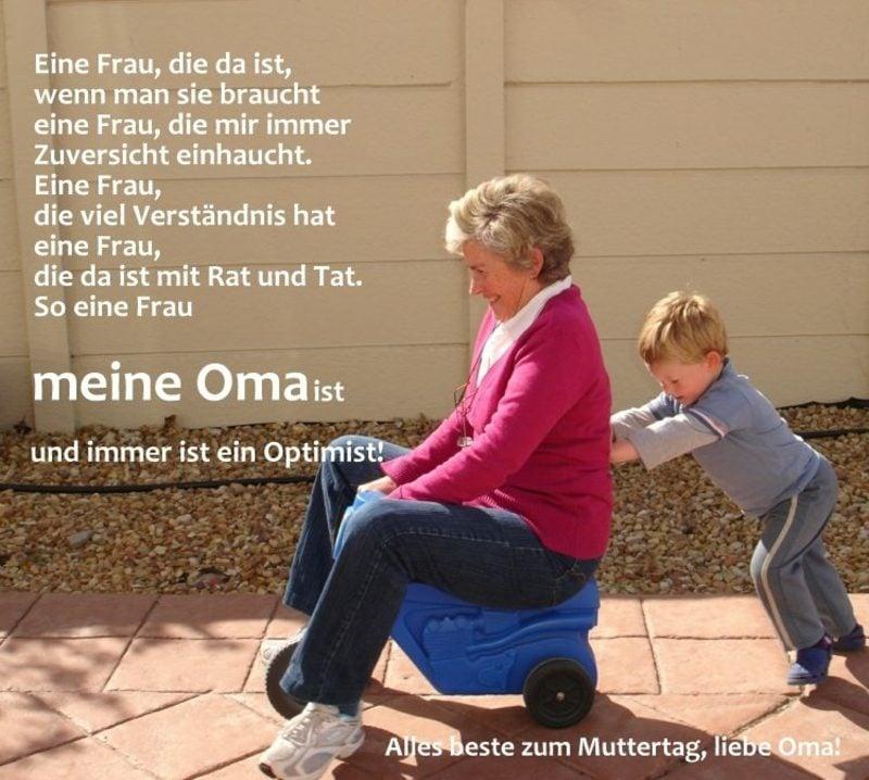lustige Muttertagsgedichte der Grossmutter gratulieren