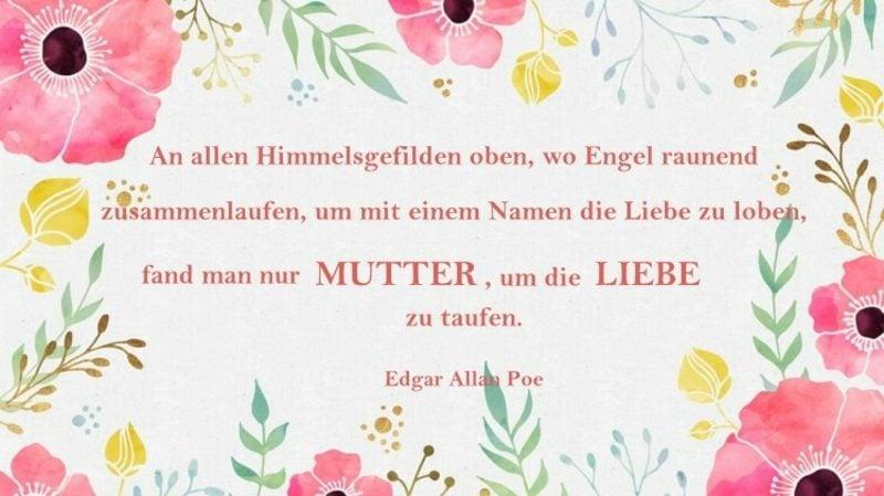 Muttertag Gedichte und Sprüche