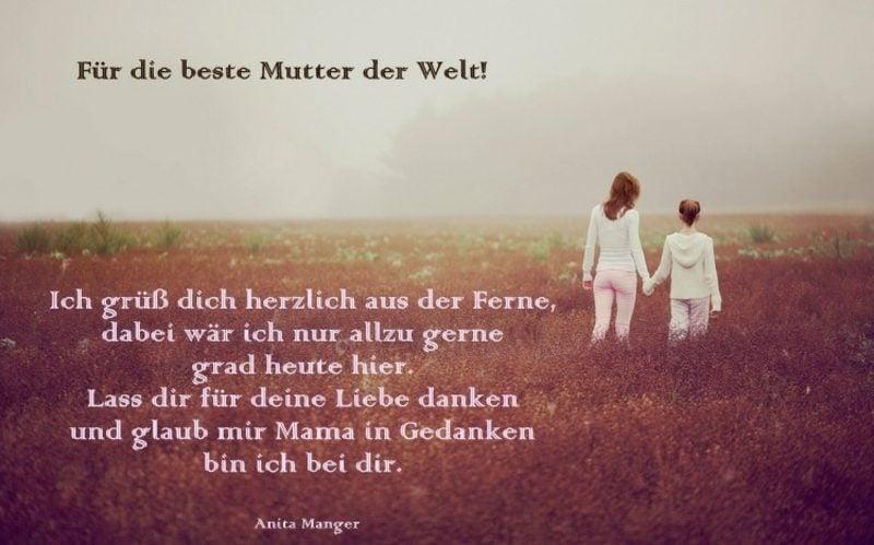 Muttertagsgedichte herrlich Anita Manger