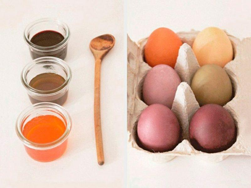 Ostereier färben mit Naturfarben Anleitung notwendige Zutaten