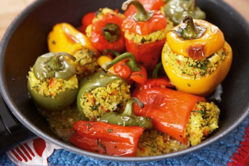 Karwoche Bedeutung Karfreitag 2017 Rezepte Paprikas, gefüllt mit Reis