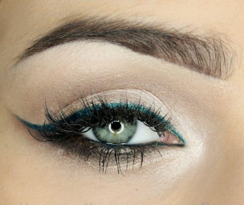 Augen richtig schminken Sommer Trends Eyeliner und Mascara auftragen