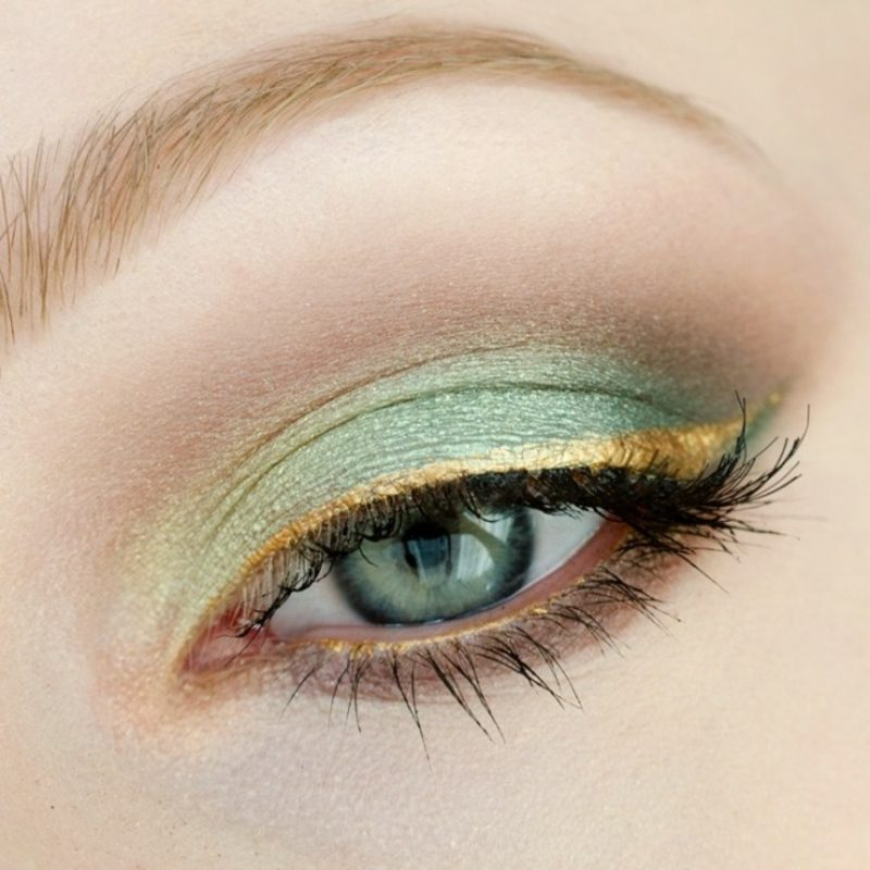 Augen Make-up Sommer Trends Lidschatten Pastellfarben
