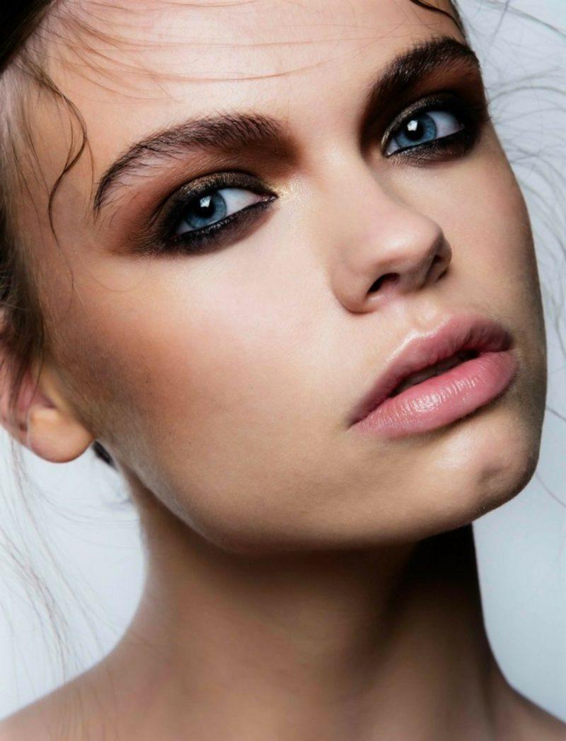 Augen Make-up Abend bronze Lidschatten Eyeliner