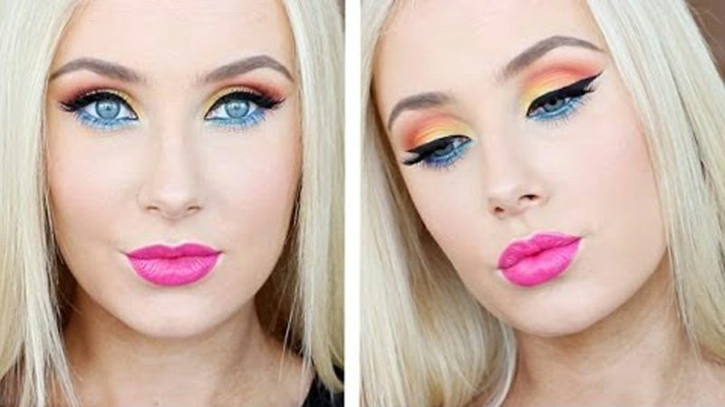 Augenmakeup gelungene Farbkombination