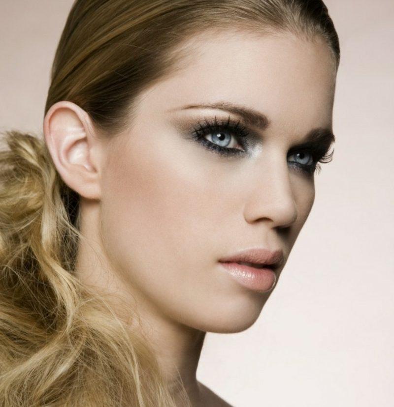 Augen schminken Sommer Abend Make-up
