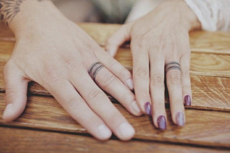 Partner Tattoos Hochzeitsringe